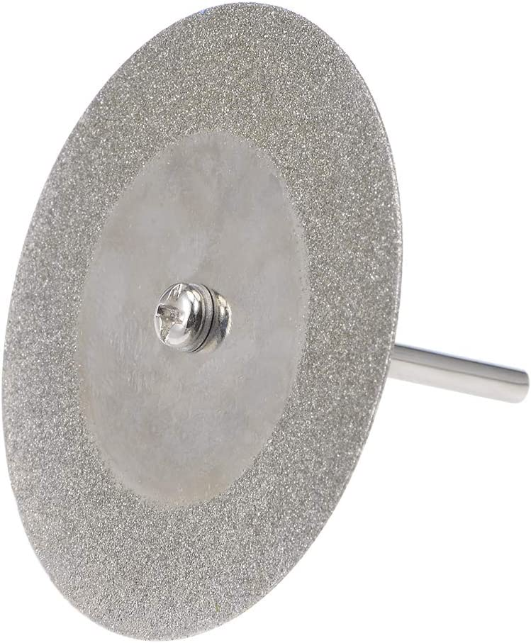uxcell 10 Pcs 50mm Diamond Cutting Wheels Cut Off Discs with 2 Pcs Mandrels for Rotary Tool