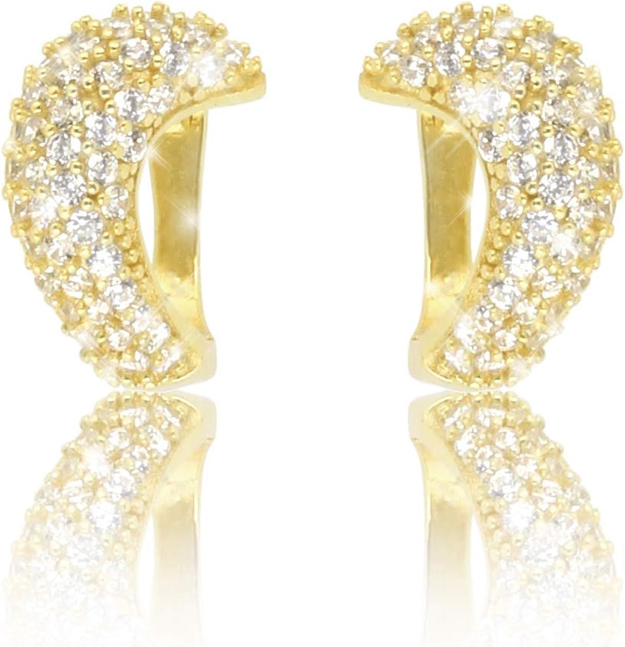 Breite Creolen 925 echt Silber Zirkonia Ohrringe Rosegold dunkelgrau bicolor neu