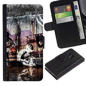 "Samsung Galaxy S3 MINI / i8190 (Not For Galaxy S3) , la tarjeta de Crédito Slots PU Funda de cuero Monedero caso cubierta de piel ("" Street Art Modern Painting Graffiti Kid"")"
