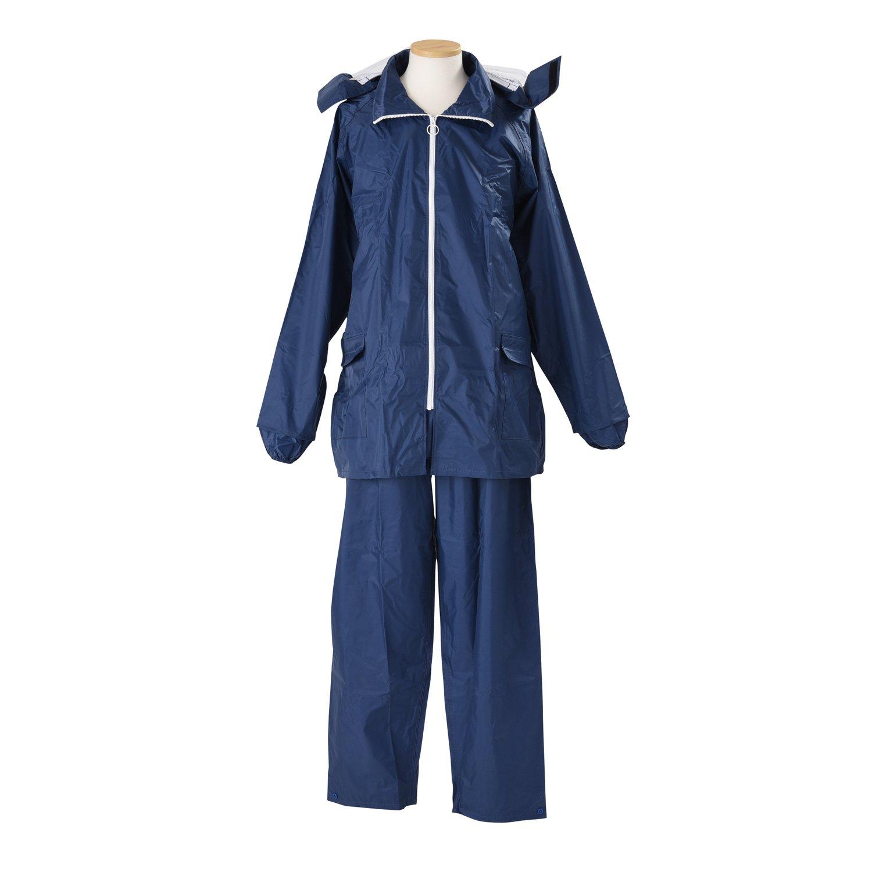 エコブレス ハイデラックス レインスーツ 全5色 全13サイズ 上下スーツ ブルー 3L(EL) 防水 2層レイヤー 収納バッグ付き K8000-BL-EL B01ET2ROT4 ブルー 3L(EL)