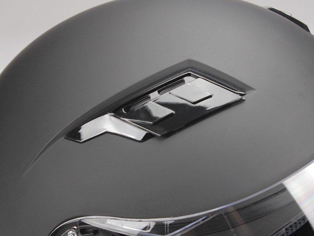 L BNO Jethelm mi Langvisier Jet200 Motorradhelm Roller Helm Schutzhelm Matt Schwarz XS-XXL