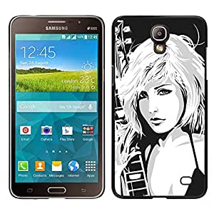 Impact Case Cover with Art Pattern Designs FOR Samsung Galaxy Mega 2 Girl Drawing Art Rock Music Blonde Babe Woman Betty shop