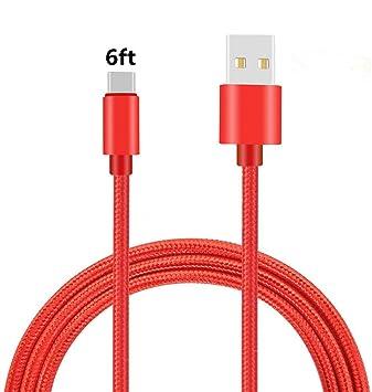 Amazon.com: Cable USB tipo C, thrrly Premium de nailon ...