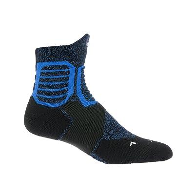 Nike Hyper Elite Cushioned High-Quarter Basketball Socks Black/Blue 6-8 (M) 6-10 (W)