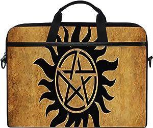 "Laptop Bag Supernatural Anti Possession Demon Devil's Trap 14"" 15"" Laptop Case Notebook Briefcase Tablet Handbag Sleeve Computer Backpack for Men Women Travel Business School"