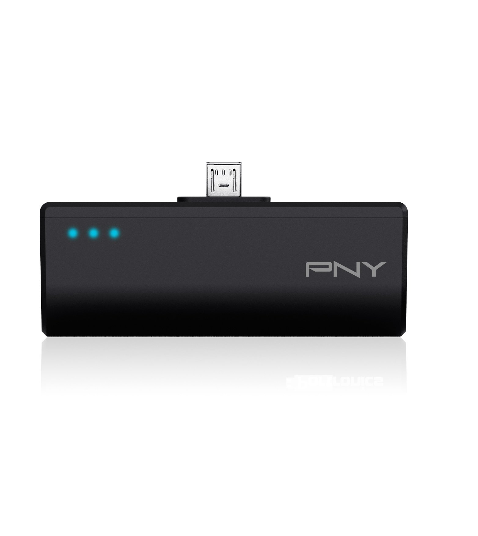 PNY DCM2200 2200mAh 1 Amp PowerPack - Portable Rechargeable Battery Charger with built-in Micro-USB connector for Samsung Galaxy, Nexus, HTC, Motorola, LG, BlackBerry, and other Android Smartphones