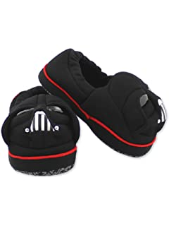 5399c3e1b3 Star Wars Darth Vader Toddler Boy s Plush A-Line Slippers with 3D Head