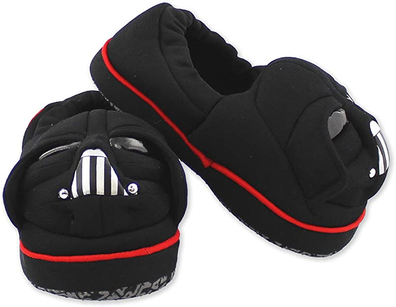Star Wars Darth Vader Toddler Boys Plush A-Line Slippers with 3D Head