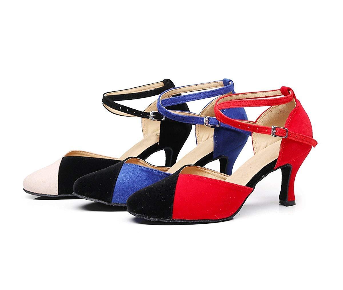 Qiusa TJ7136 TJ7136 TJ7136 Damen Mädchen Knöchelriemen Blau Wildleder Latin Dancing Schuhe Formale Partei Pumps UK 2,5 (Farbe   - Größe   -) 9d6ad4