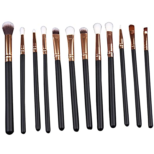 12Pcs Da.Wa Eyeshadow Brush Set Eyeshadow Eyeliner Blending Crease Kit Pencil Shader Tapered Definer Last Longer Makeup Supplies
