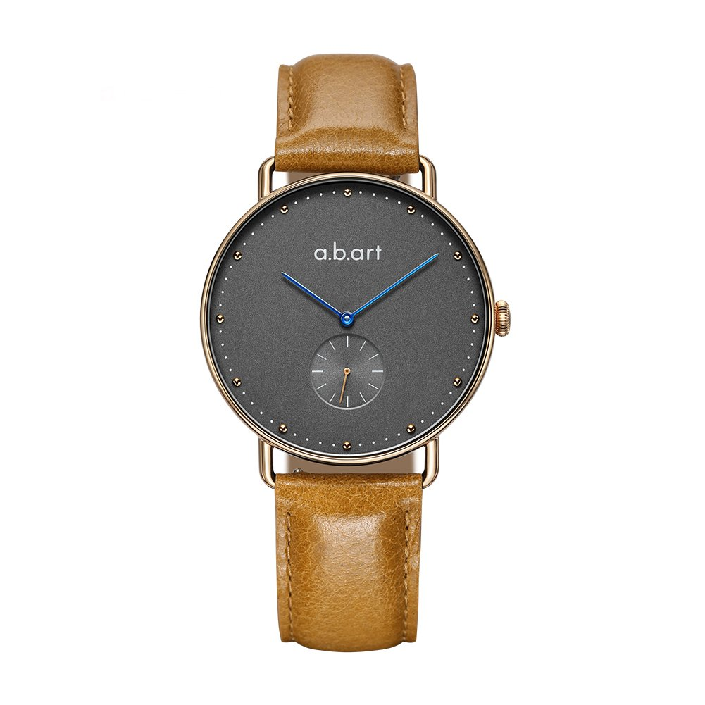 abart Her Watches FR36-004-3L Ladies Watches Croco Alexander Leather Strap Grey Dial Dress Watch (Light Brown)
