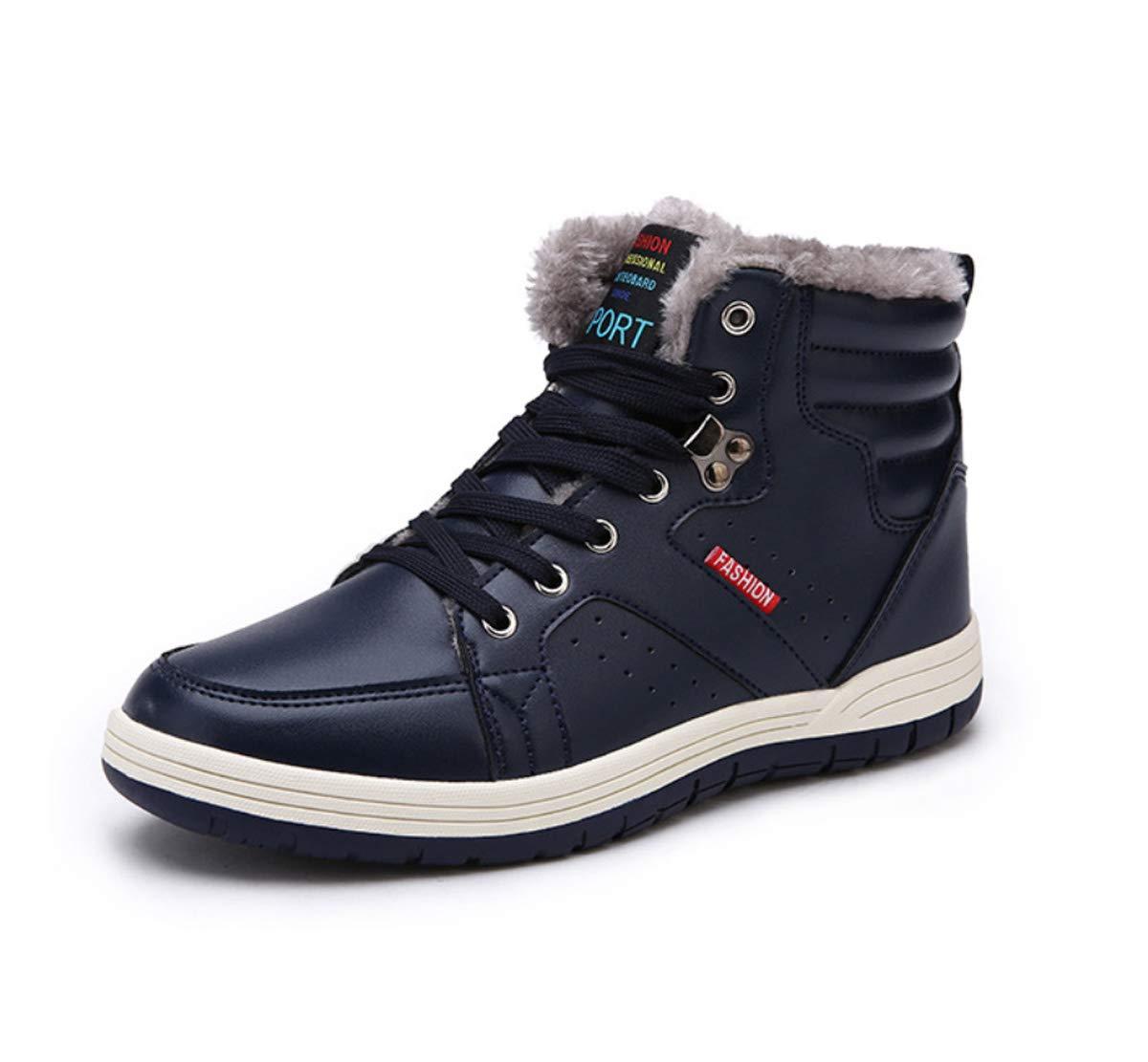 DANDANJIE Herren Warme Schneeschuhe Wandern Trekking Schuhe Wasserdichte High-Top Turnschuhe Anti-Slip Lace-up Winter Casual Outdoor-Schuhe