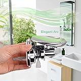 BOPai Elegant Suction Soap Dish,Powerful Vacuum