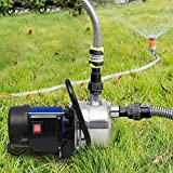 Benlet 1.6HP Portable Stainless Steel Shallow Booster Well Pump, 700GPH, 1200W Lawn Sprinkling Pump for Home Garden Water Transport Irrigation