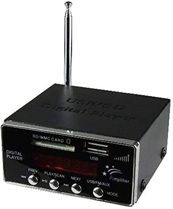 Compact MP3 Player with FM Tuner - Line Output Player - USB and SD Card