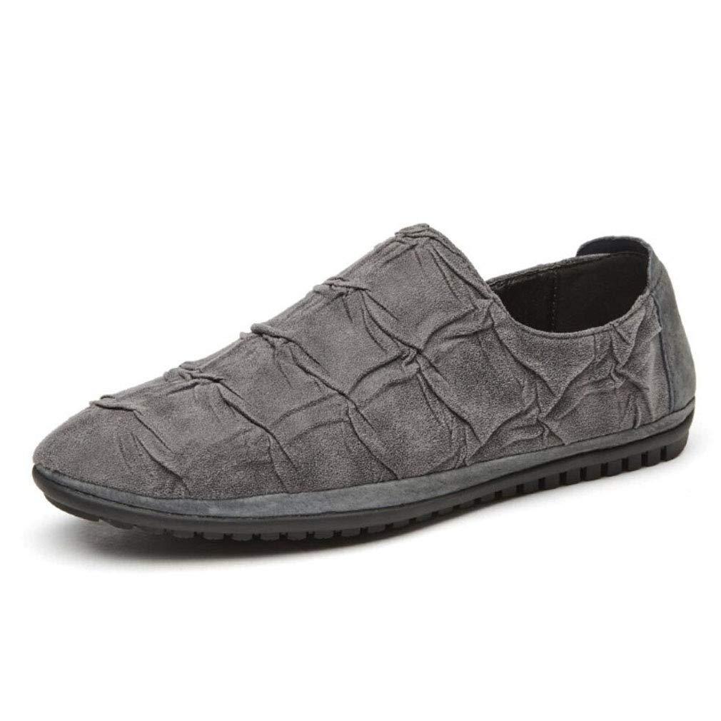 YAN Beiläufige Schuhe der Männer Beleg auf Stiefel-Schuh-Frühlings-Fall-beiläufigen Büro-Müßiggänger-Partei u. Abend im Freien (Farbe : C, Größe : 43)