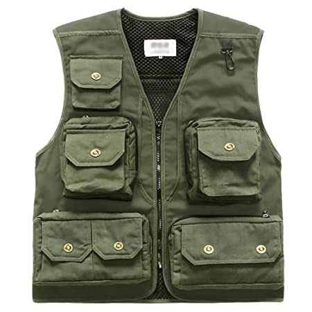 Marsway Fly Fishing Vest Multi Pockets Travel Photography Vest Outdoor Hunting Breathable Waistcoat Jackets