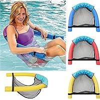 Floating Swim Noodle Sling Mesh Chair, Pool Float Lounge Chair Seat Hammock(3pcs)
