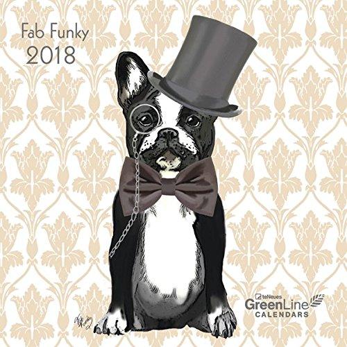 Fab Funky 2018 - GreenLine Kalender, liebevoll illustrierter Kalender, Mini-Broschüren - 17,5 x 17,5 cm