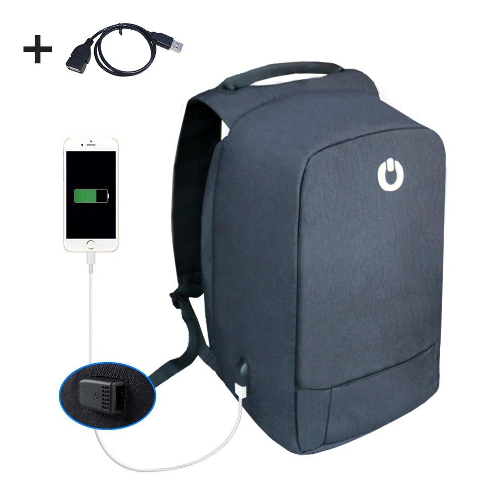 Anti Theft Laptop Backpack Mangotek Business Travel Bags with USB Charging Port Fits 15.6'' Notebook (Black) Manufacturer MBP-01