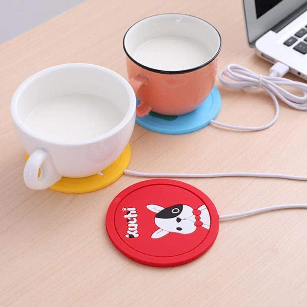 Color : Red 3pcs Cute Cartoon Latte Bevanda della Tazza di caff/è dellisolamento Pad USB Riscaldamento sottobicchiere del caff/è Tazza da t/è Warmer stuoia del Rilievo for Office Home-Giallo