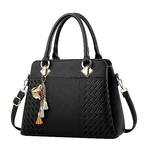 Clearance Sale! ZOMUSAR Fashion Women Leather Splice Handbag Shoulder Bag  Crossbody Messenger Bag Tote Bag b86156f627