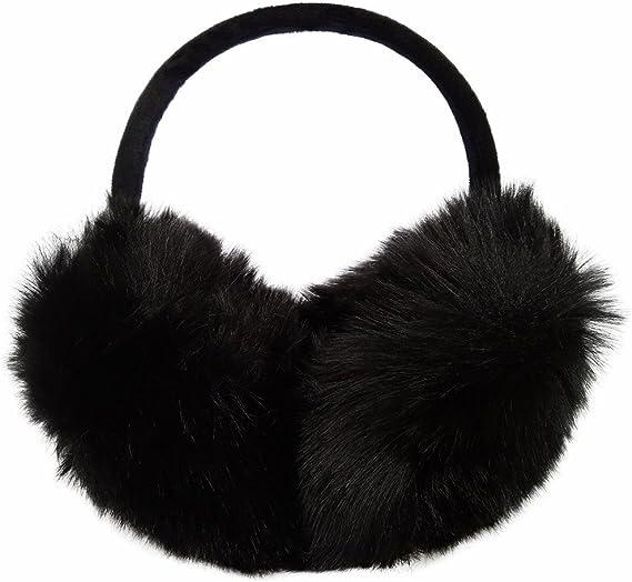 VA Buddhism Sanskrit Letter Pattern Winter Earmuffs Ear Warmers Faux Fur Foldable Plush Outdoor Gift