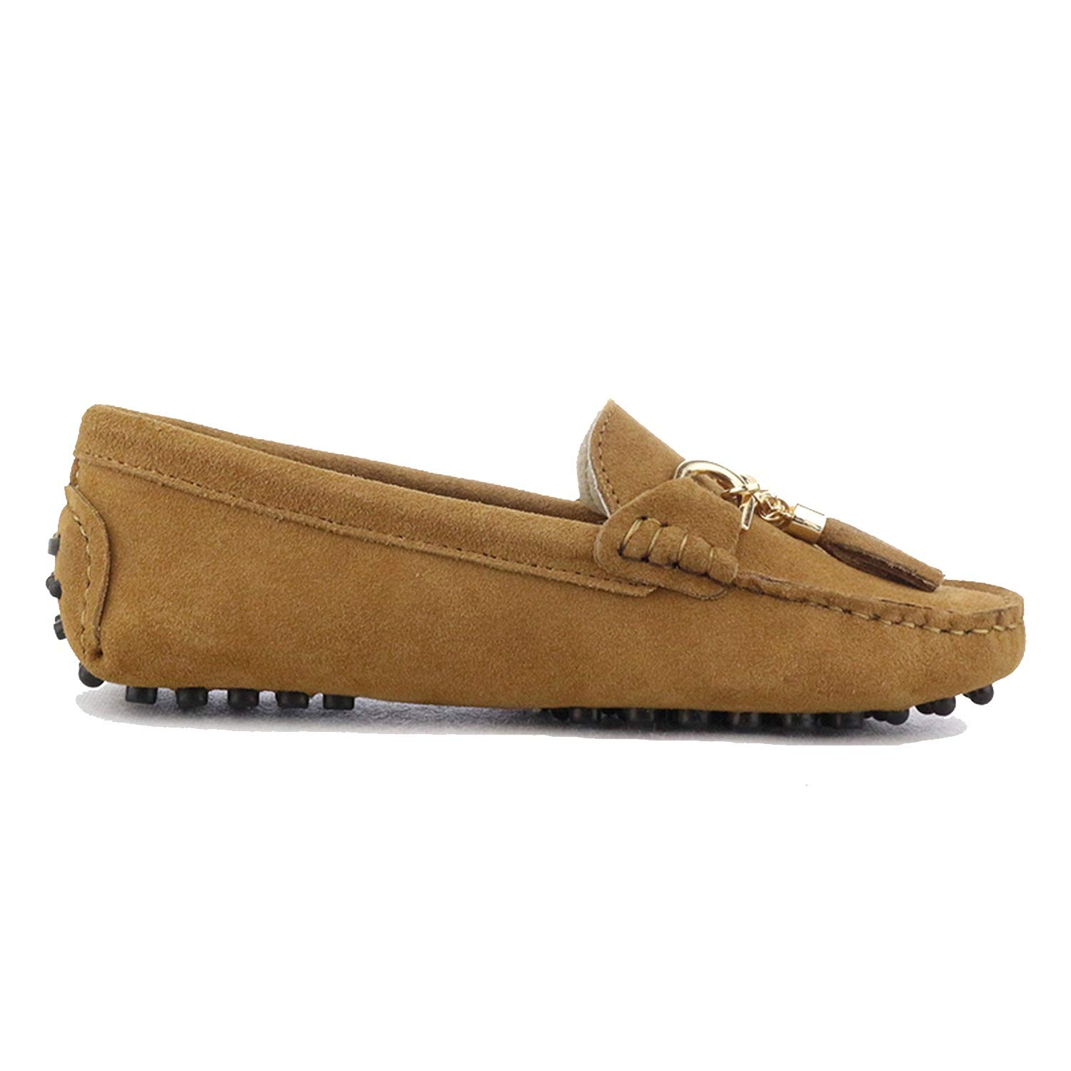 Chestnut Fashion Women Lady Leather Loafers Casual Driving shoes Women Flats shoes