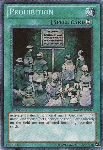 Yu-Gi-Oh. – PROHIBITION (lcyw-en267) – Legendary 's Collection 3: Karten 's Legendary World – Unlimited Edition – Secret Rare von Yu-Gi-Oh. d1040d