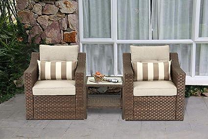 Amazon.com: Solaura - Juego de muebles de exterior de 3 ...