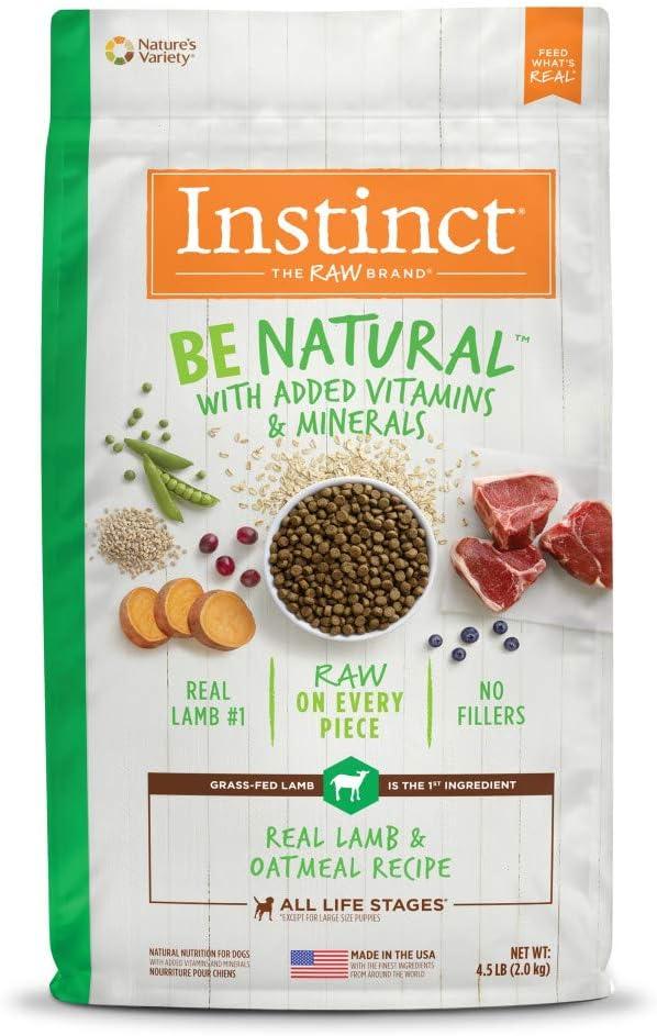 Instinct Be Natural Dry Dog Food, Raw Coated Whole Grain Dog Food