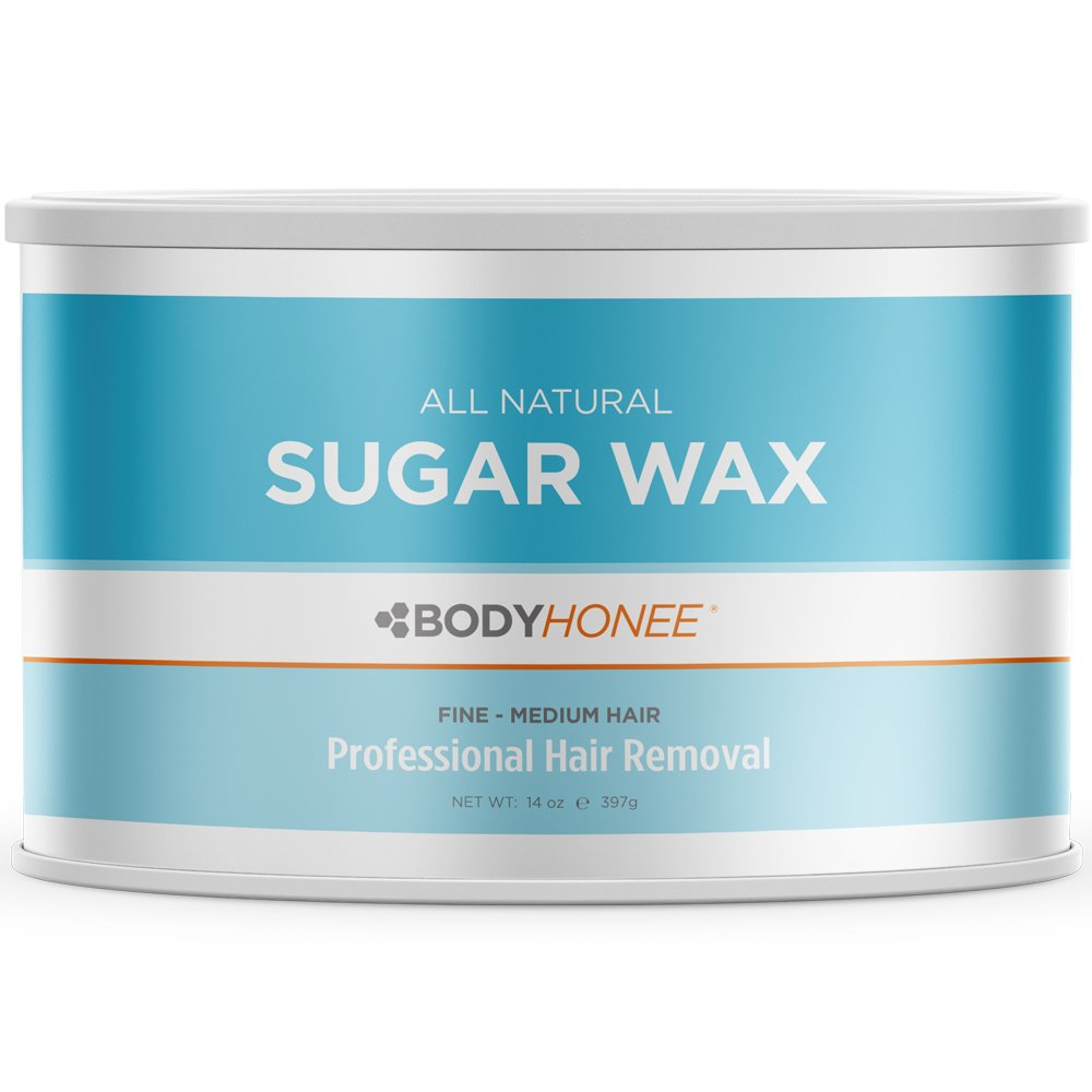 Full Body Sugar Wax For Fine to Medium Hairs - All Natural - Professional Size 14 oz. Tin