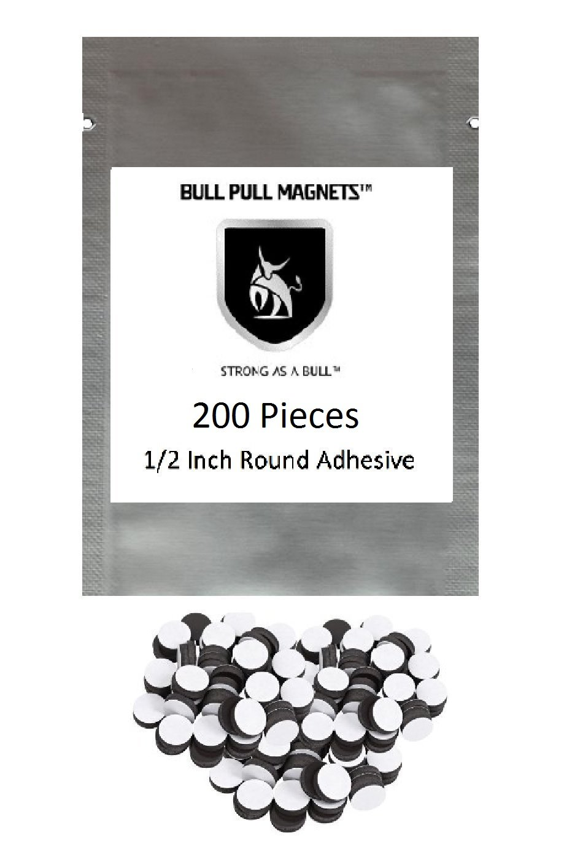 200 Round Self Adhesive Magnetic Circles .5'' Diameter 4 mil Mets Arts and Crafts Sheets Magnet Dot DIY Mac 4 Eye Tape Fridge Cute Self-adhesive Sticky Craft