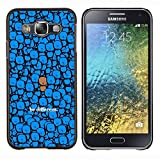Samsung Galaxy E5 / SM-E500 , Luminous-Blue - Hard Plastic Back Case Cover Shell (Different)