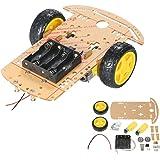 KKmoon モーター 1:48 ロボット スマートカー 2WD 2輪 スマートカー シャシー DIYキット スピードエンコーダー Arduino用