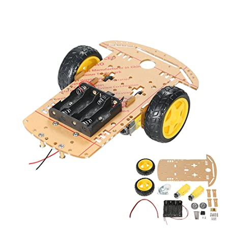 2WD Chassis Kit Smart Robot Car Speed Measuring Battery Box Arduino 2 motor 1:48