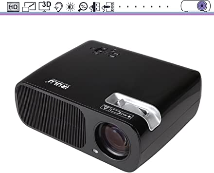 iRULU Portátil Multimedia Mini LED Proyector con VGA USB SD AV ...