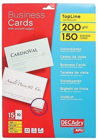 DECAdry OCC 3342 150pices Carte De Visite