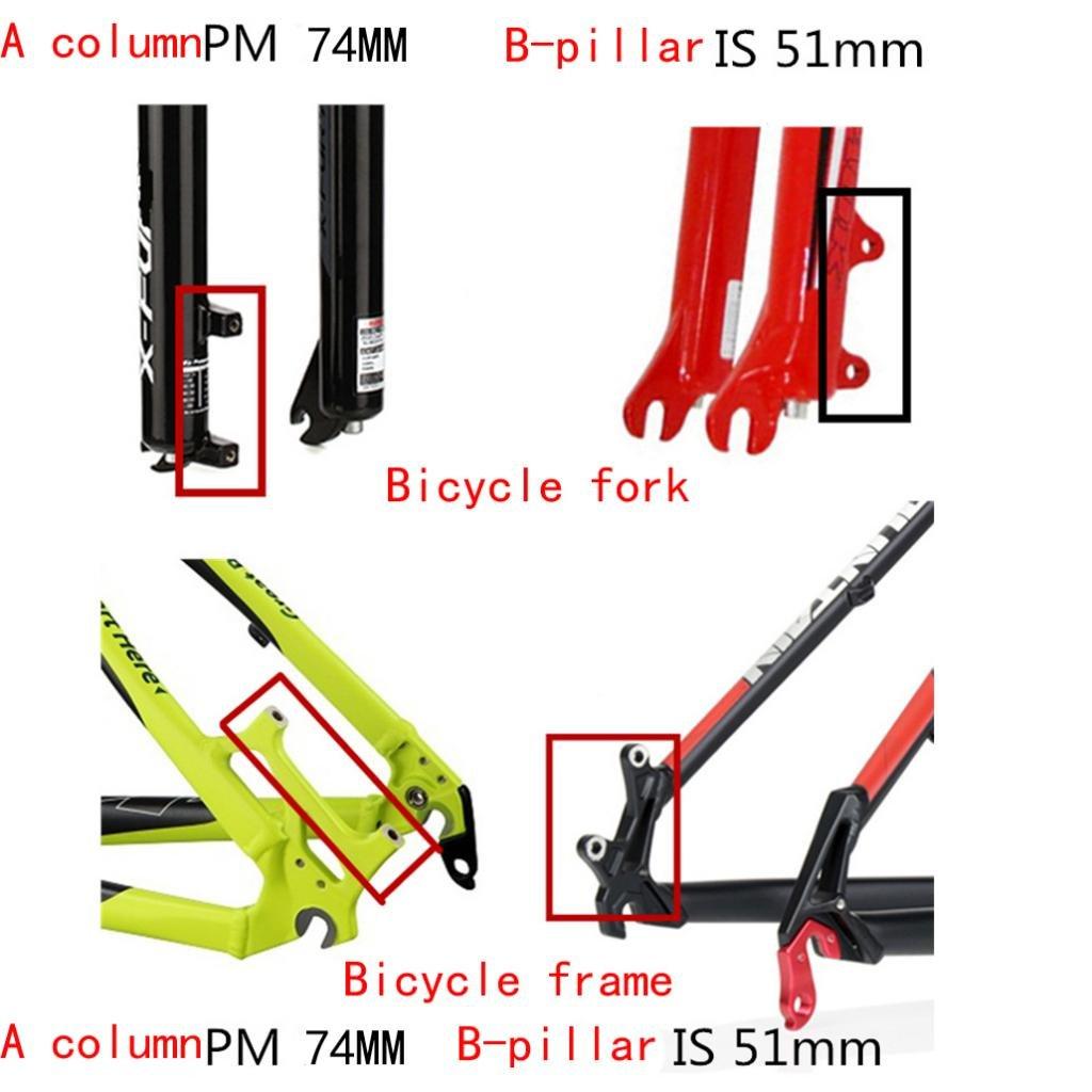 perfeclan Fahrrad Scheibenbremse Mount Adapter F/ür Bremssattel Gabel 203mm Rahmen 180mm