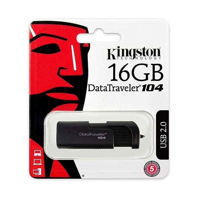 Amazon.com: Kingston Digital 16 GB Data Traveler 104 USB 2.0 ...