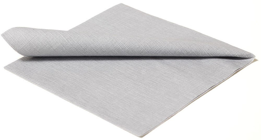 The Napkins Deluxe Classic Entertaining Napkin - Silver Grey Luxury Paper Napkin - Feels Like Cloth by The Napkins (Image #2)