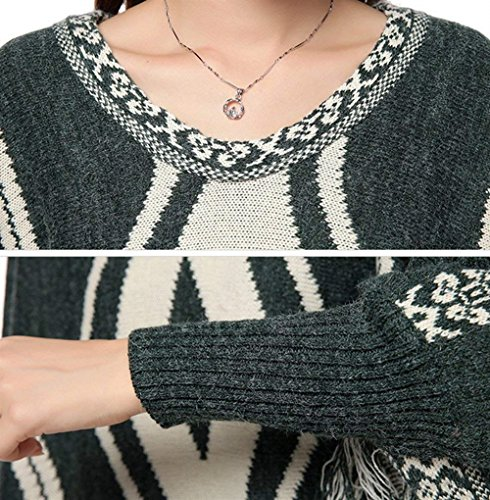 Femme Fashion Tricot Automne Pullover Hiver Poncho H1qq0