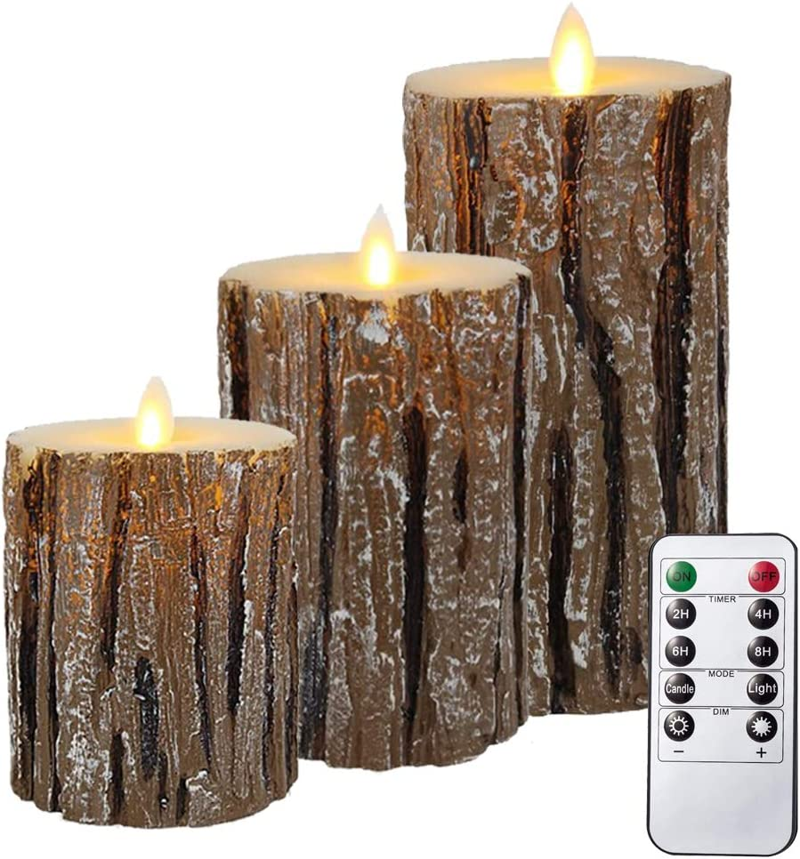 Flameless Candles, AVEKI Battery Operated Flickering Moving Wick Candles 4