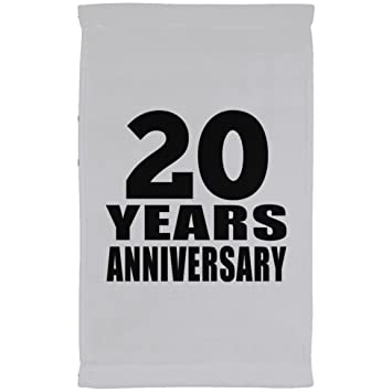 Designsify Toalla de aniversario, 20 años de aniversario, toalla de cocina, toalla de