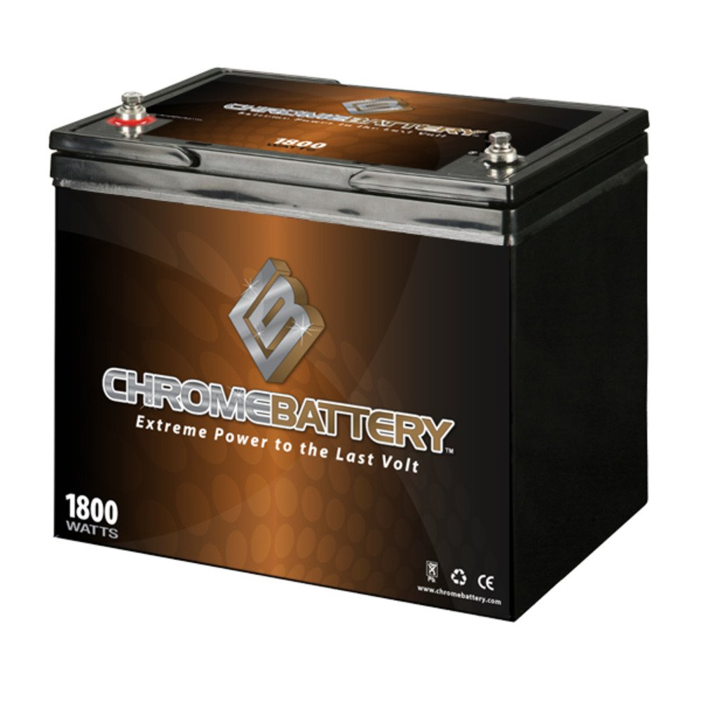 12V 80Ah AGM Deep Cycle Battery for RENOGY PV SOLAR PANELS by Chrome Battery
