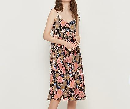 69eb3075e6823f Amazon.com : MOM Slim Thin Tube Top High Waist Thin Strap Dress ...