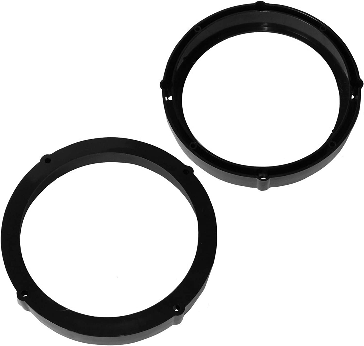 Aerzetix 2 pcs Set of Ring Sound Speaker Supports Adapter Holders for 165 mm Rear Car Audio Speakers
