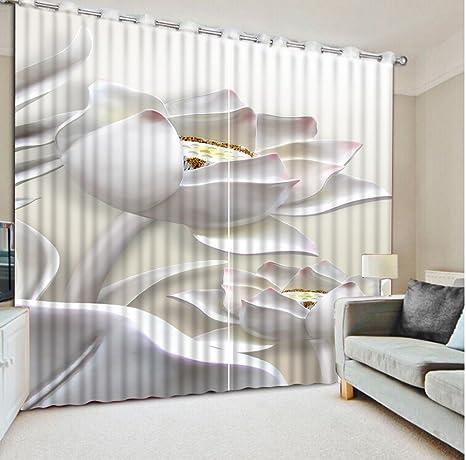 Sproud Tende Moderne Per Un Soggiorno 3D Tende Goffrato Lotus Home ...