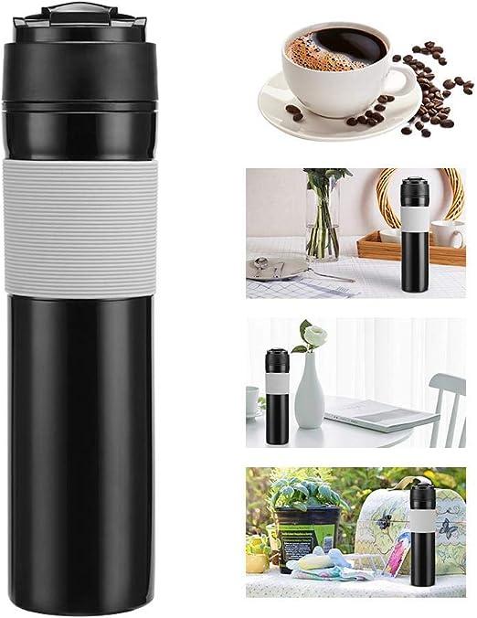 LYHONG 1Pcs MáQuina De Café A PresióN Manual Cafetera De Té Botella De Café Prensada Francesa PortáTil Botella De Filtro De Café para Oficina De AutomóVil, Color, 1: Amazon.es: Hogar