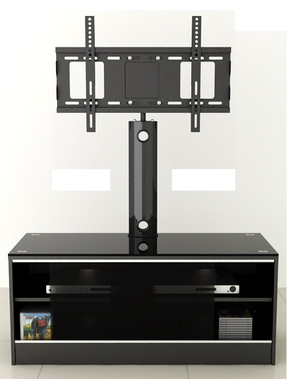 LED/LCD/Plasma Black Satin Finish MDF TV Stand with TV Mount up to ...